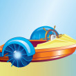 Royalty-Free Stock Vector Image: A plastic boat