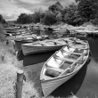 Moored boats — Stock Photo