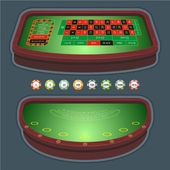 Roulette table blackjack — Stock Vector