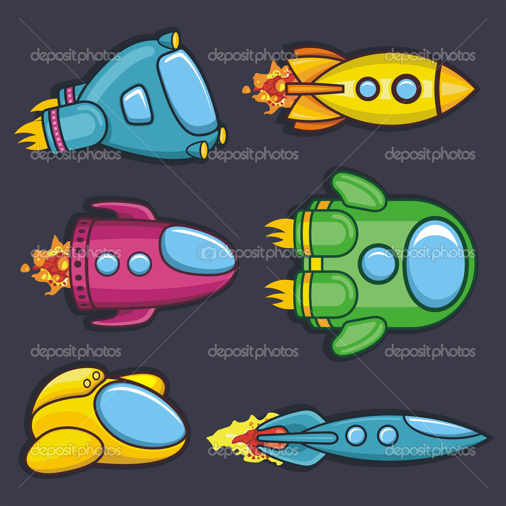 Set of colorful rockets — Stock Vector #11660422