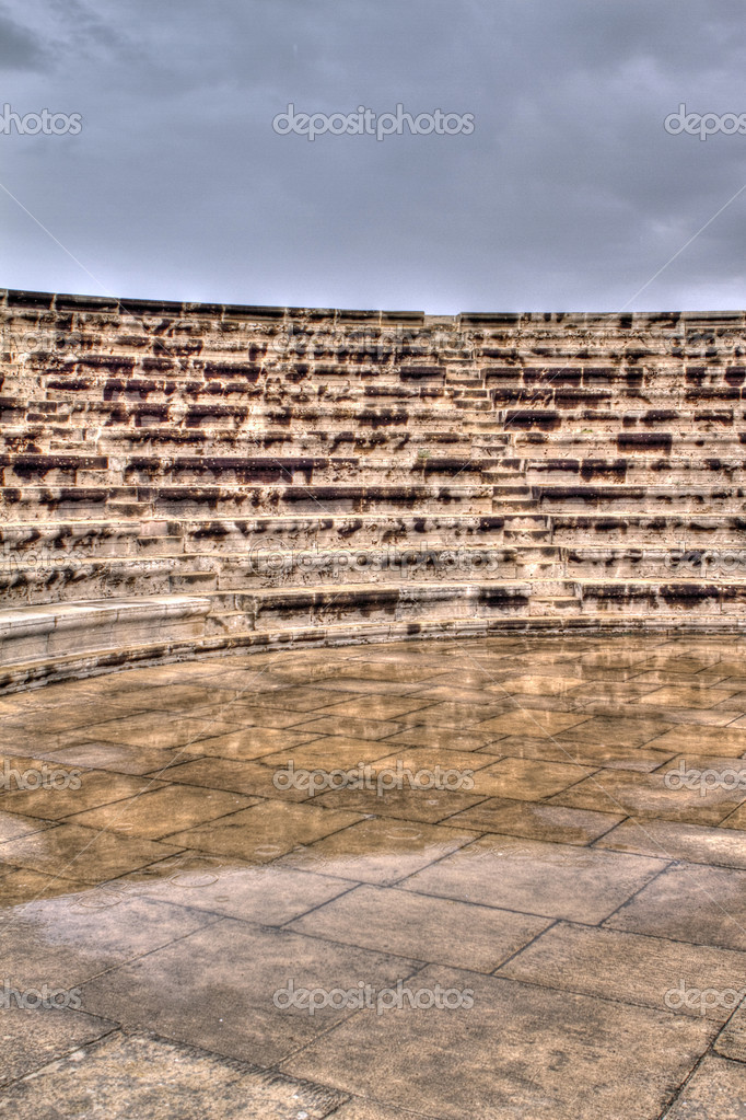 The odeon in the grounds of paphos castle — Stock Photo #10962752