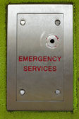 Emergency services access key point on a residential block of flats — Stock Photo