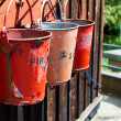 Stock Photo: Fire buckets