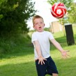 Little boy playing with ball — Stock Photo #11498476