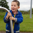 Little boy playing in the park - Stock Photo
