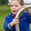 Little boy playing in the park — Stock Photo