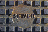Old Sewer Plate — Stock Photo