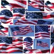 American Flag Buttons and Banners — Stock Photo #11165258