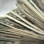 US Money Stack Background 2 — Stock Photo