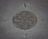 Stone Compass — Stock Photo