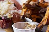 Hot Dog and Yam Fries 2 — Stock Photo