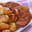 Stock Photo: Steak and potatoes