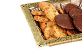 Oatmeal cookies and chocolate wafers — Stock Photo