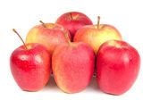 Fresh and juicy red apples — Stock Photo