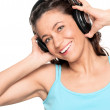 Woman with headphone — Stock Photo #11819208