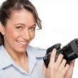Woman with dslr — Stock Photo #11819234