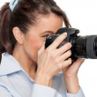 Woman with dslr — Stock Photo #11819236