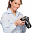 Woman with dslr — Stock Photo #11819242