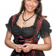 Woman with traditional skirt - Stock Photo