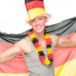 German soccer fan — Stockfoto