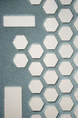 Metallic Honeycomb pattern — Stock Photo