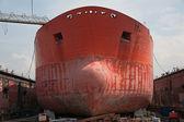 Port of Hamburg 2012 - ship in dry dock — Stock Photo