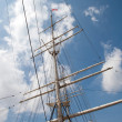Stock Photo: Port of Hamburg 2012 - tall ship foremast