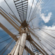 Stock Photo: Port of Hamburg 2012 - main mast of a sailing ship
