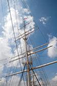 Port of Hamburg 2012 - tall ship foremast — Stock Photo