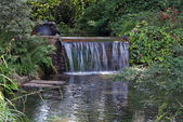 Waterfall in Japanese Garden — Stock Photo