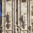 Architecture detail of Duomo of Milan - Stock Photo