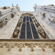 Bottom up view of Milan Cathedral - Foto Stock