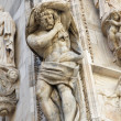 Architecture detail of Milan Cathedral - Foto Stock