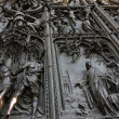 Close up od Milan Dome bronze door - Stock Photo