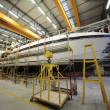 Luxury yacht construction - Stockfoto