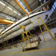 Luxury boat construction - Stockfoto