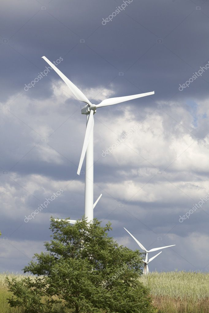 Wind turbines in Germany — Stock Photo #11073315
