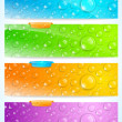 Stylish water drop banners — Stock Vector