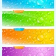 Stylish water drop banners - Stock Vector