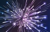 Fiber optic explosion — Stock Vector