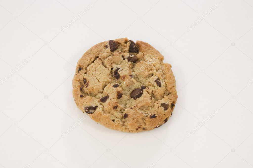 Chocolate Chip Cookies on white background — Stock Photo #10946110