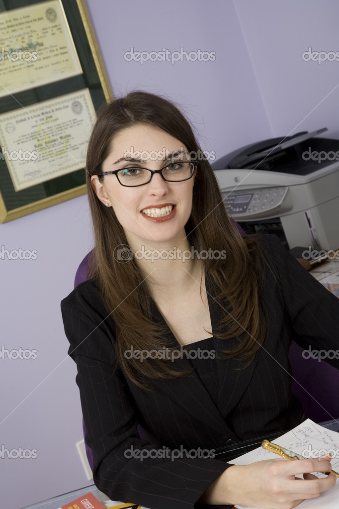 Woman working in home office  Stock Photo #10951723