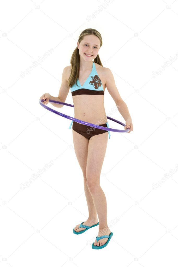 Preteen girl - Stock Image
