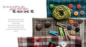 Various sewing supplies with place for your text. — Stock Photo