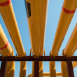 Yellow pipeline. - Stock Photo