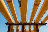 Yellow pipeline. — Stock Photo