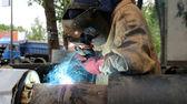 Svářeč v práci — Stock fotografie