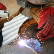 Stock Photo: Industrial Welding
