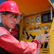 Drilling Rig Worker — Stock Photo