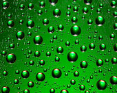Drops green — Stock Photo